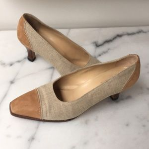 Gucci Linen and Suede Pumps 38.5